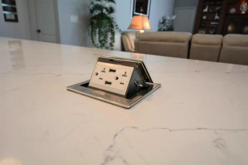 Pomeii Quartz with recessed outlets